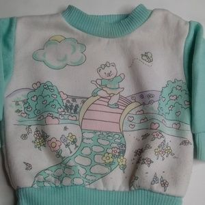 Vintage 18mo Little by Little Sweater Bear in Park